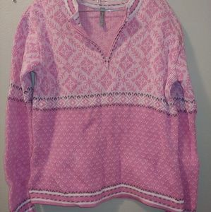 Hanna Andersson Nordic Fair Isle Cotton sweater XS